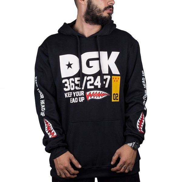 Moletom Dgk Heads Up Hoodie Black black p