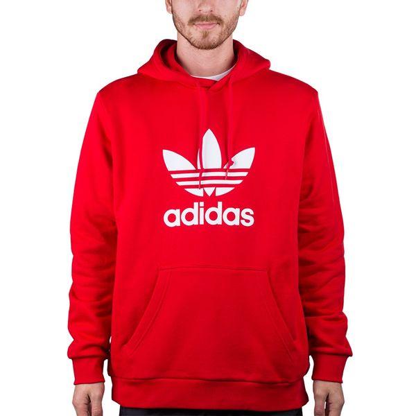 Blusa Moletom Adidas Trefoil Hoodie vermelho gg