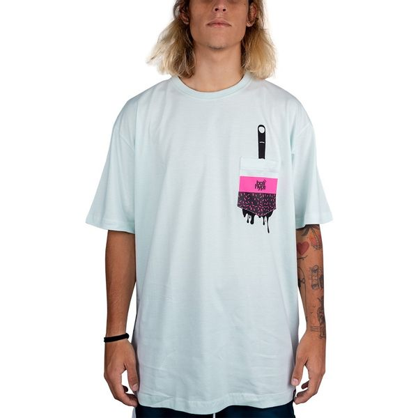Camiseta Bali Hype Surprise Pocket Masculino verde água m