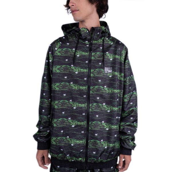 jaqueta bali hype corta-vento Espada De São Jorge verde/preto p