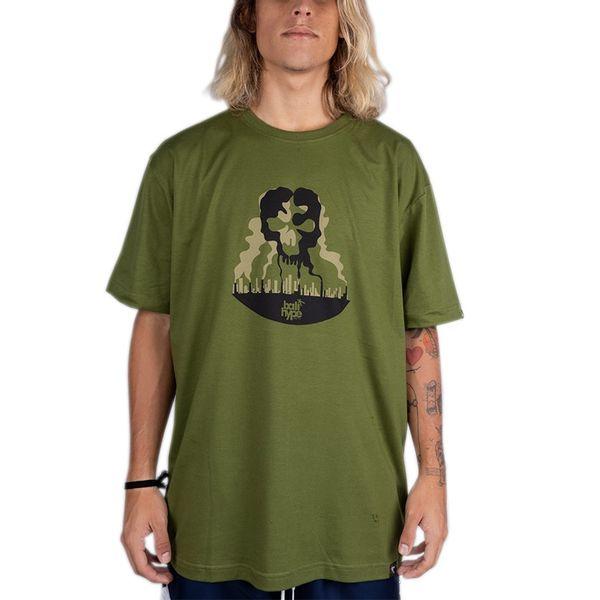 Camiseta Bali Hype Pollution Skull verde p