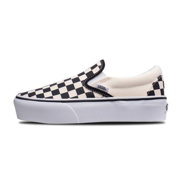Tênis Vans Classic Slip-on Platform Checkerboard checkerboard 35