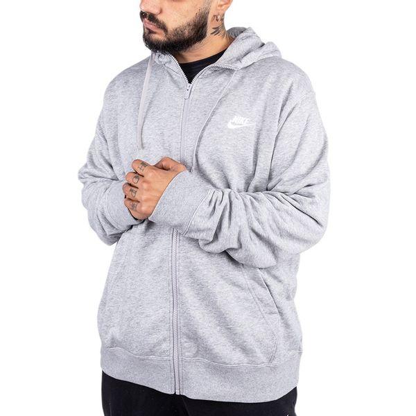 Moletom Nike Club Hoodie 063 grey p