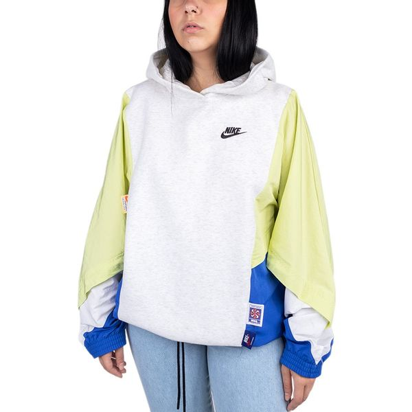 Blusa Moletom Nike Clash Po Hoodie Mix 051 soft grey pp