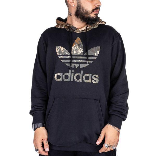 Blusa Moletom Adidas Block Hoody black/camo gg
