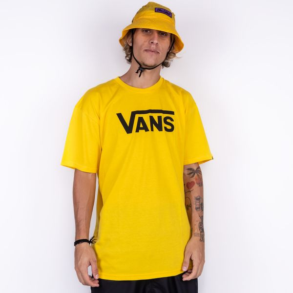 Camiseta-Vans-Classic-Lemon-Chrome-VN0A4BRW85W1