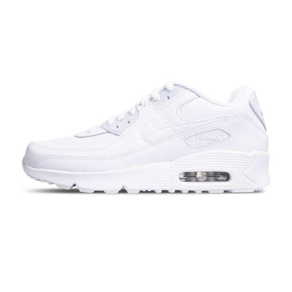 Tenis-Nike-Air-Max-90-Infantil-Leather-GS-White-100-white-341